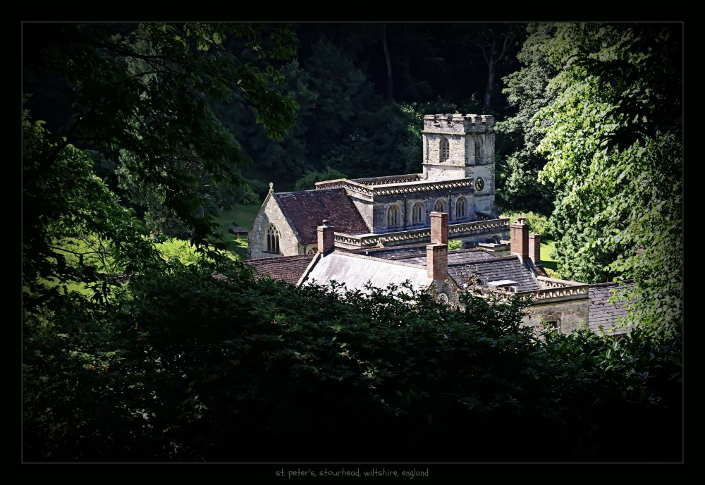 england, wiltshire, stourhead, st. peter's church
