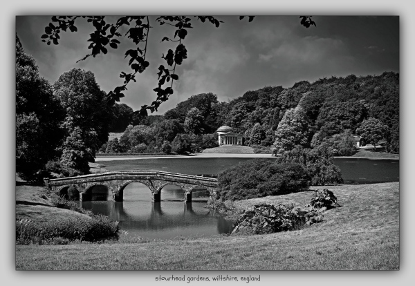 england, wiltshire, stourhead, palladian bridge