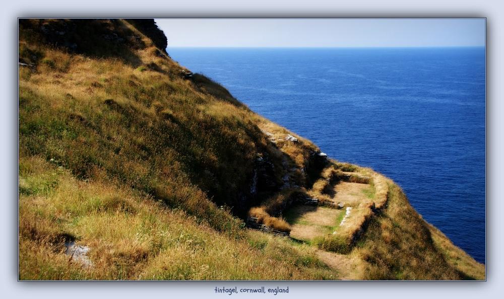 england, cornwall, tintagel, ruins, sea