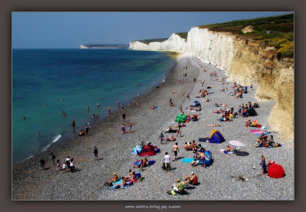 england, sussex, seven sisters, beach, sea, cliffs