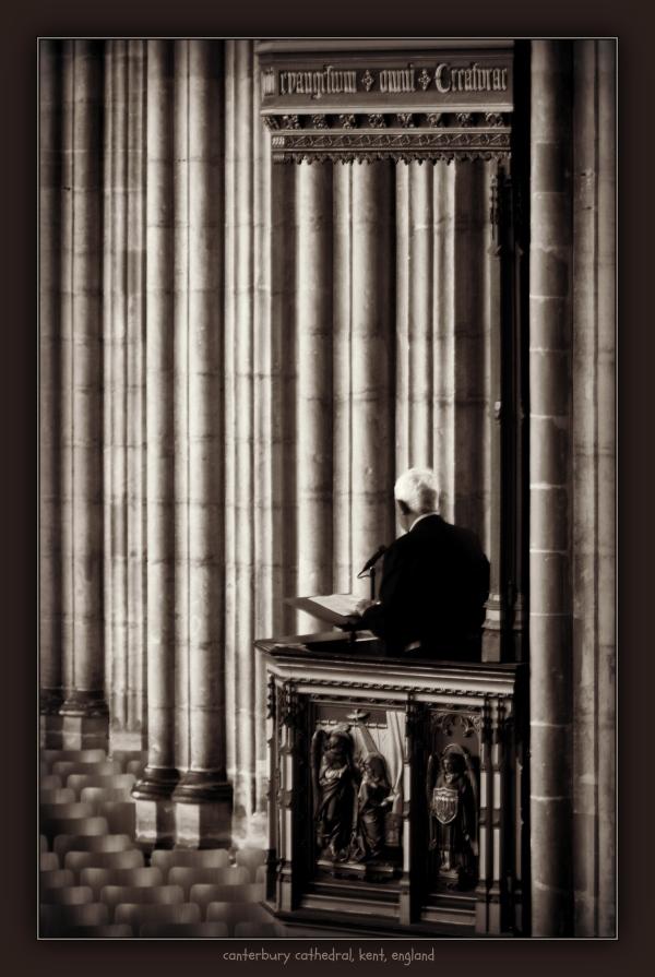 england, kent, canterbury, cathedral, preacher