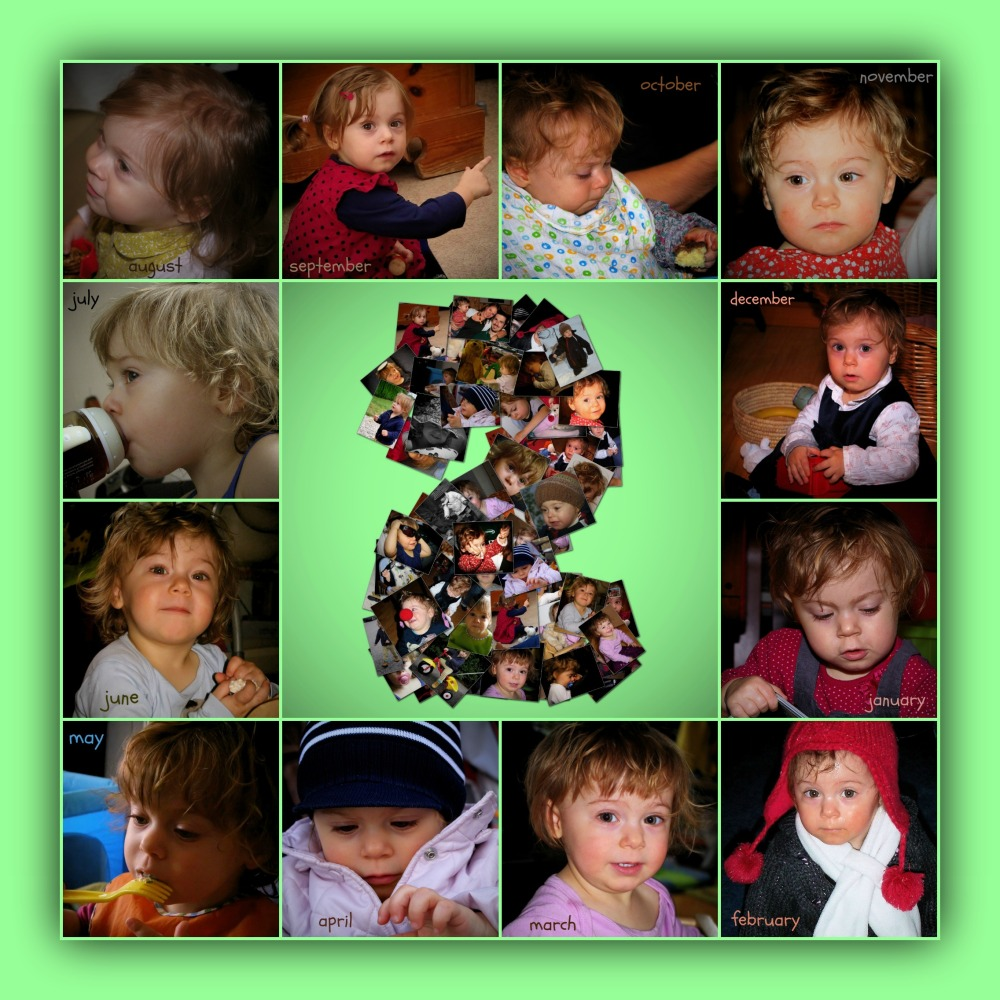 emilia, 2 years old, september 2013, collage