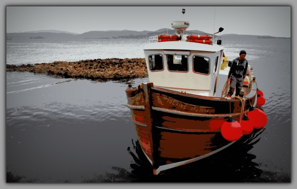 scotland, mull, iona, staffa, boat