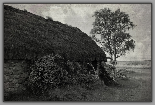 scotland, culloden battlefield, cottage, textures