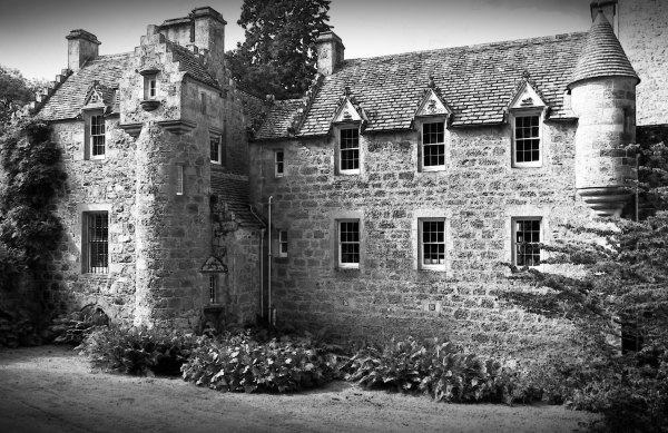 scotland, cawdor castle, monochrome, wcp