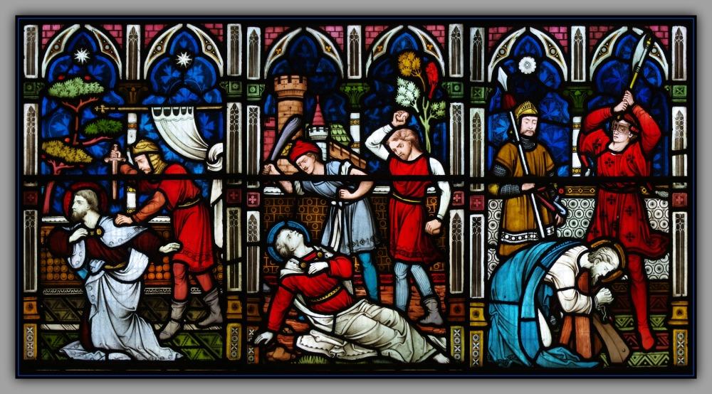 scotland, aberdeen, st. machar, windows, martyrs