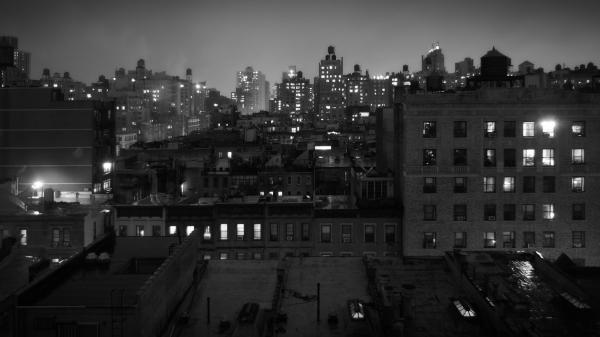 new york city, night, skyline