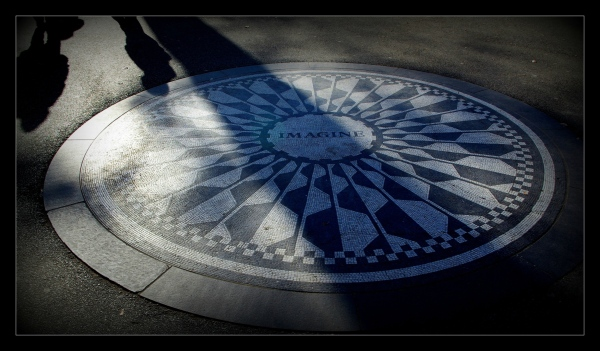 new york city, strawberry fields, imagine