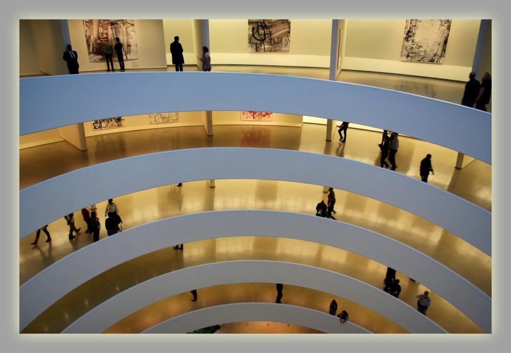 new york city, guggenheim museum, spiral ramp