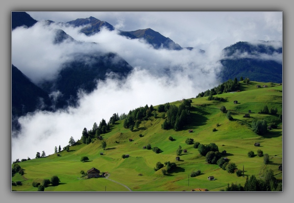 tirol, fiss, mountains, alps, inn valley, clouds