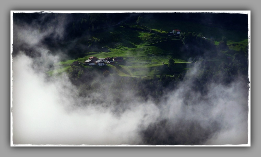 tirol, fiss, alps, mountain farms, clouds