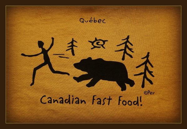 quebec, T-shirt, canadian fast food