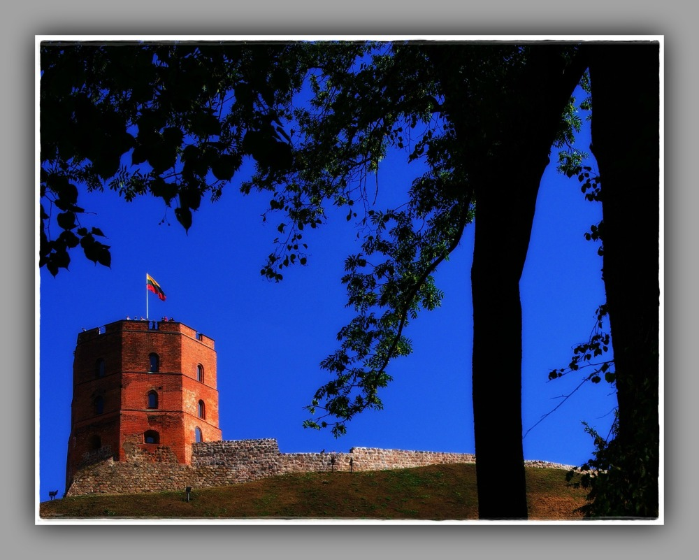 baltic states, lithuania, vilnius, gediminas tower
