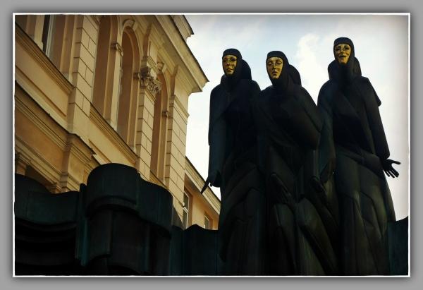 baltic states, lithuania, vilnius, drama theatre