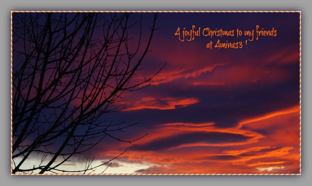 evening, sky, clouds, colours, christmas