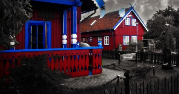 baltic states, lithuania, nida, cottages
