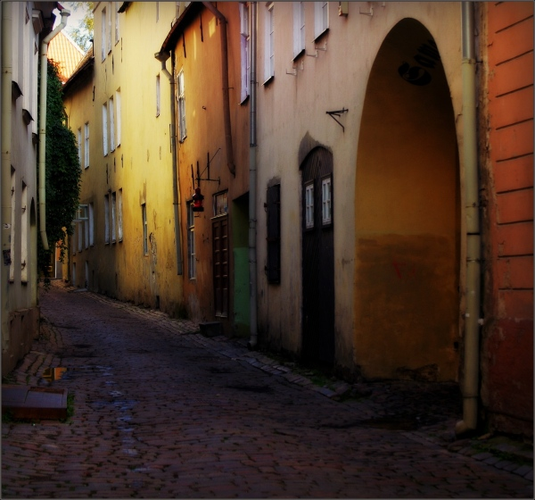 baltic states, estonia, tallinn, old town street