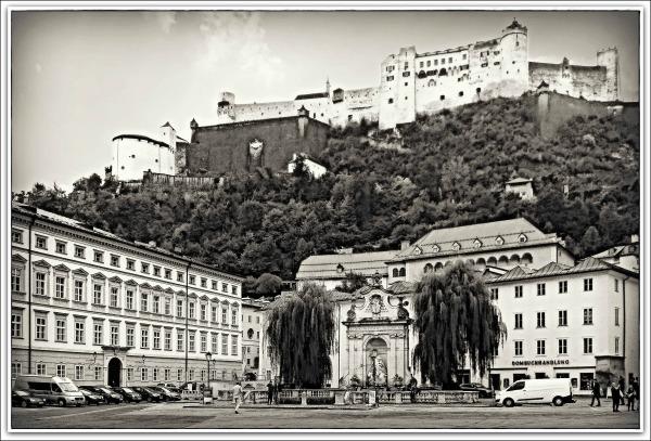 austria, salzburg, chapter square, fortress