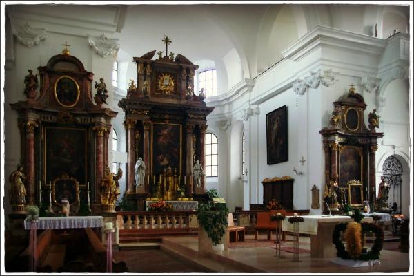 austria, salzburg, hallein, church interior