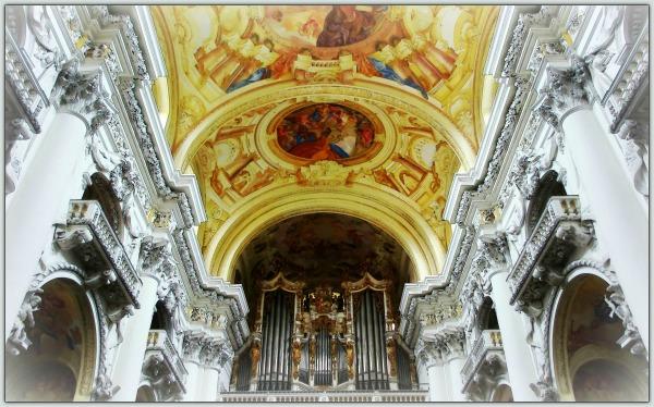 austria, st. florian, church, interior