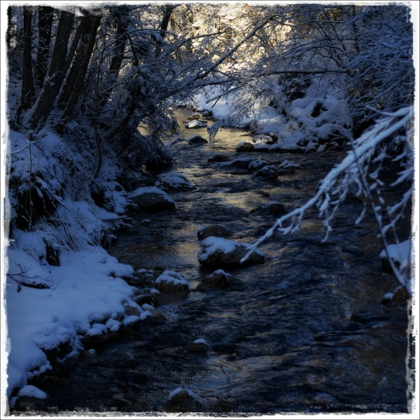 italy, corvara, winter, snow, creek