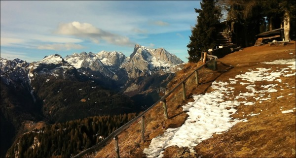 italy, dolomites, winter