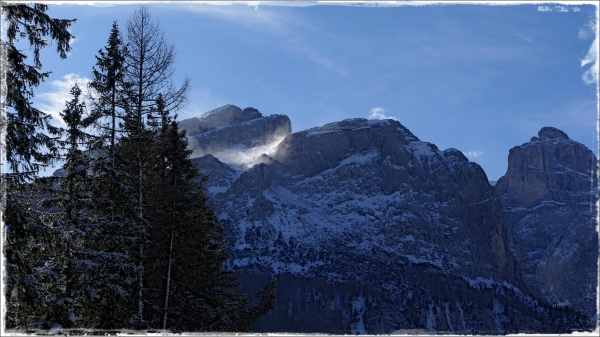 italy, corvara, winter, sella