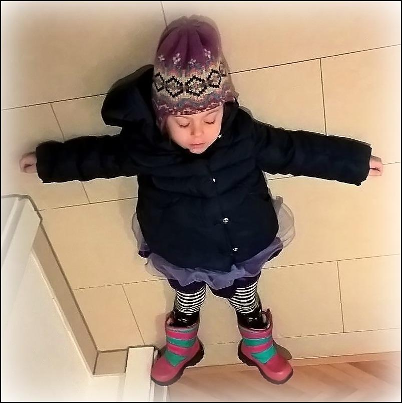 emilia, januray 16, sleeping on the floor