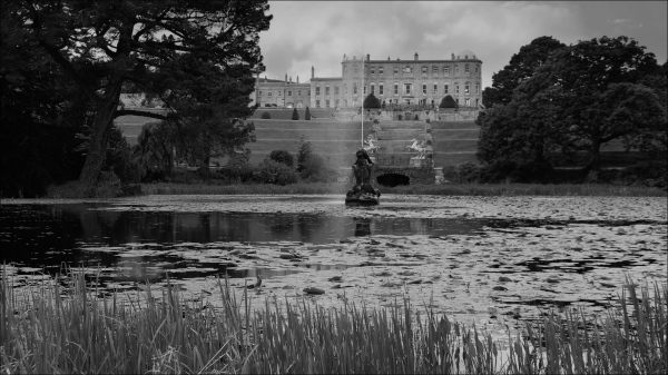 ireland, powerscourt gardens, castle, triton lake