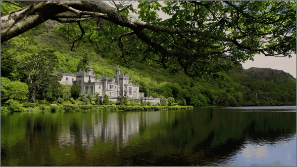 ireland, kylemore abbey, galway, castle
