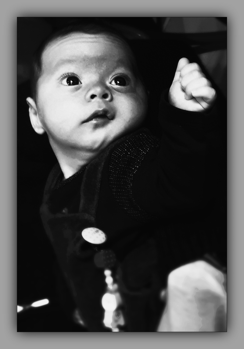 felix, grandson, two months old