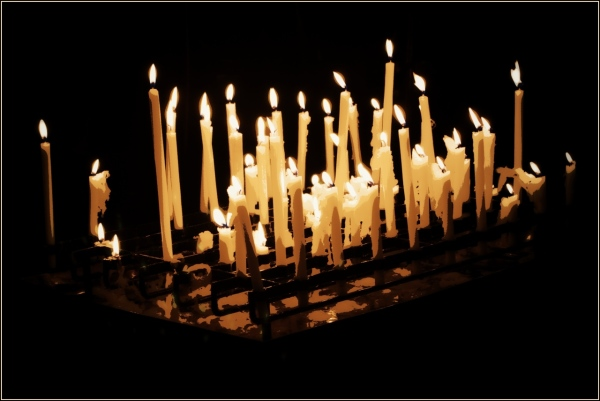 ital, como, candles, posterised
