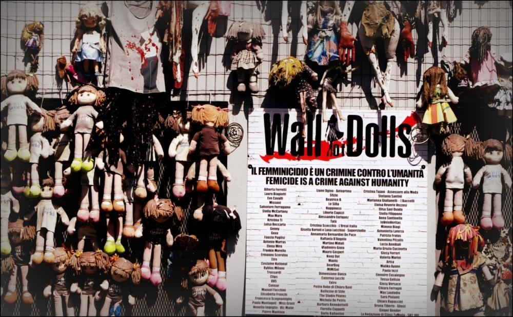 italy, milan, memorial, femicide, wall of dolls
