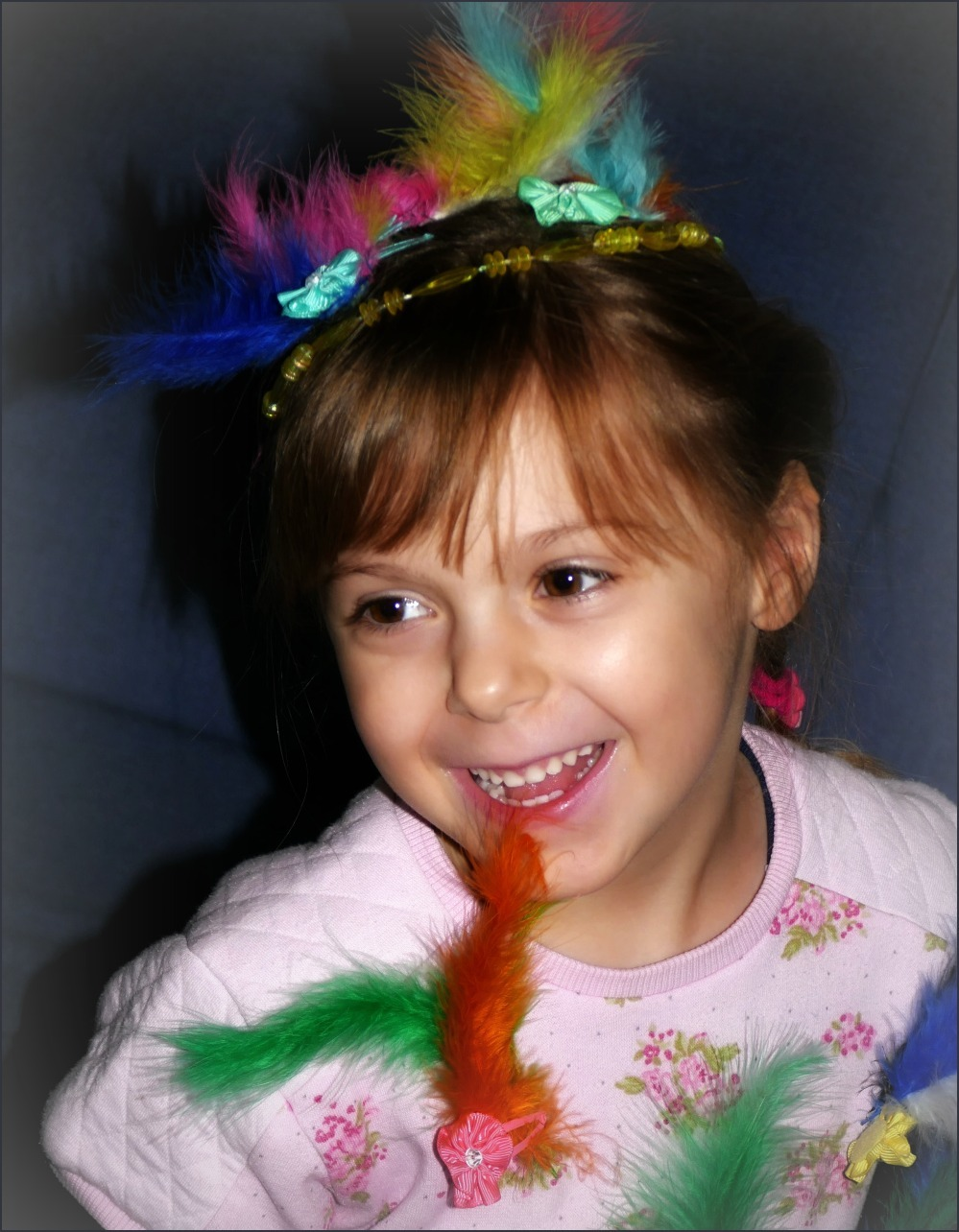 emilia, five and four, feathers