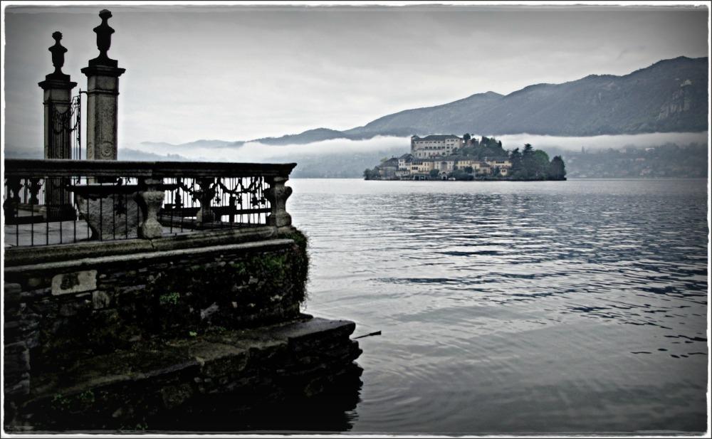 italy, lago d'orta, island, haze