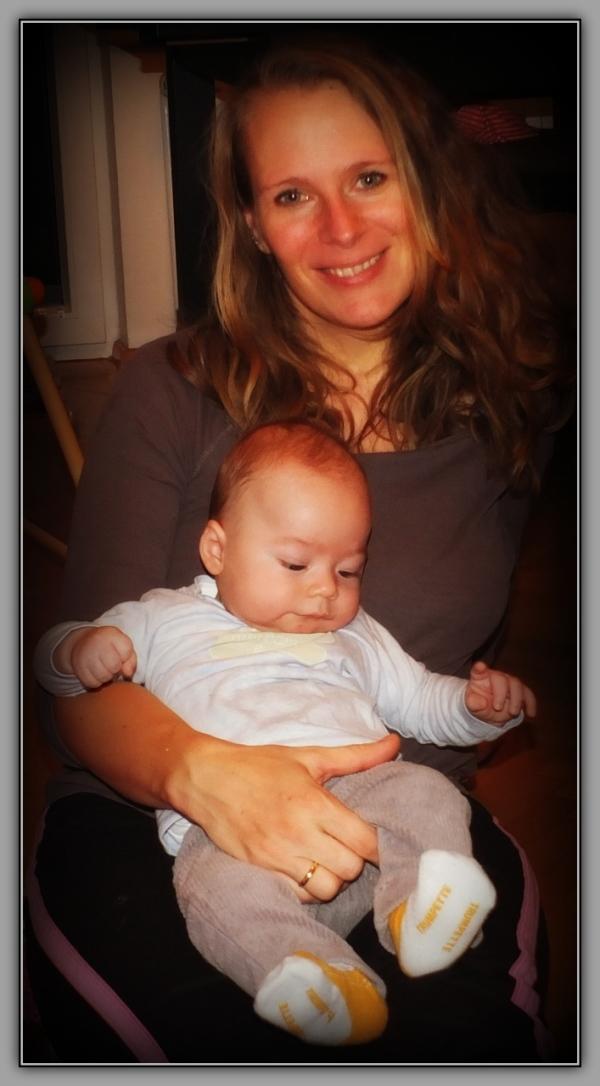 felix, grandson, five months old