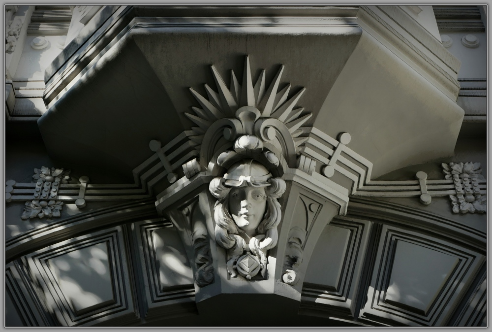latvia, riga, art nouveau, face