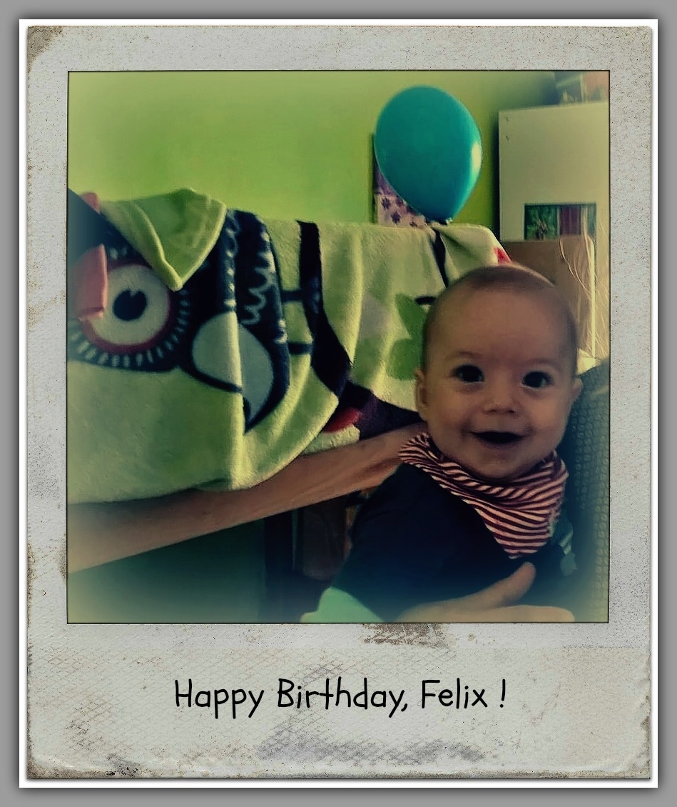 felix, grandson, six months old