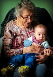 great grandmother and  son