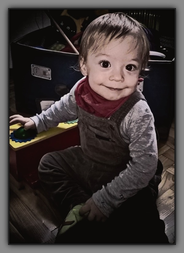 felix, grandson, fourteen months old, december