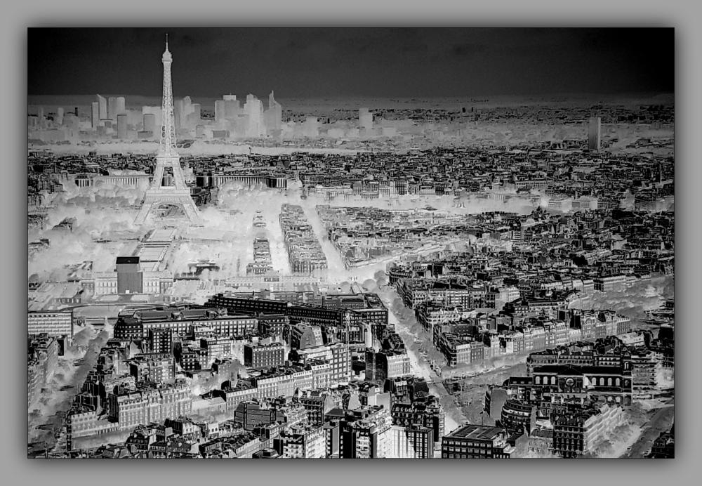 Paris, negative, panorama
