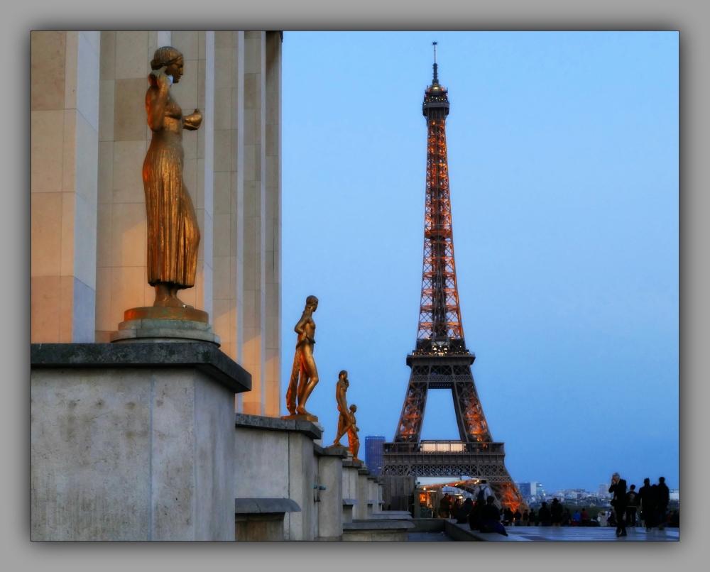 paris, palais de chaillot, eiffel tower
