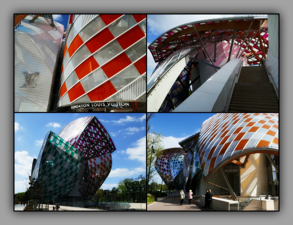 paris, fondation louis vuitton, collage