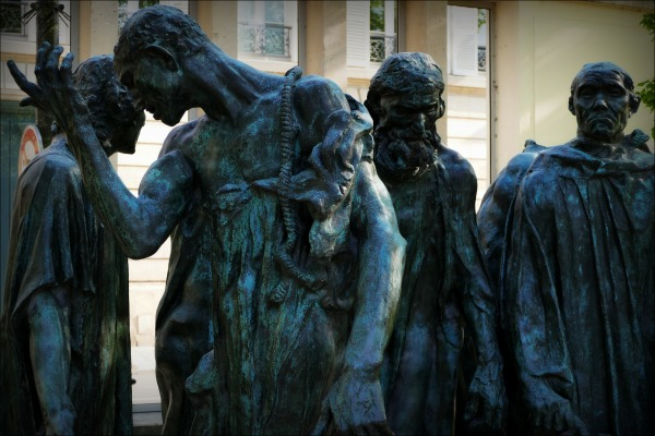 paris, rodin museum, the burghers of calais