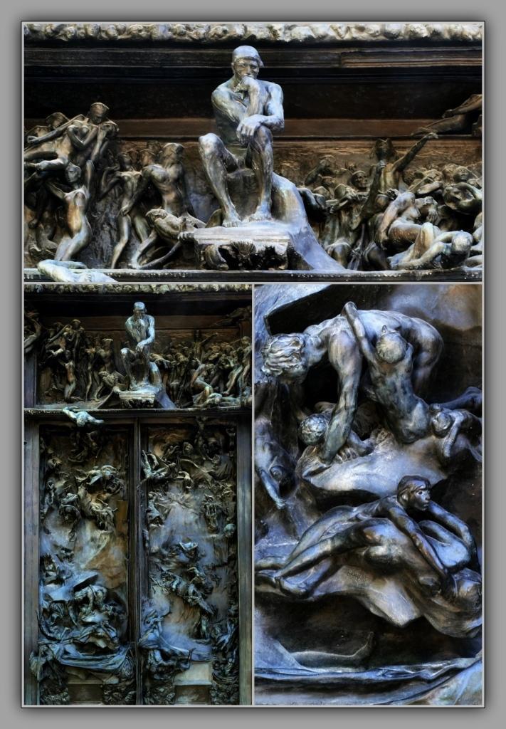 paris, rodin museum, la porte de l'enfer