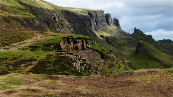 scotland, skye, quiraing, cliff