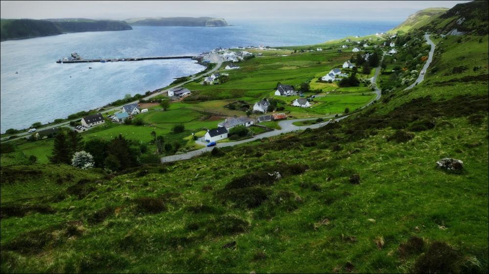scotland, skye, uig, pier, landscape