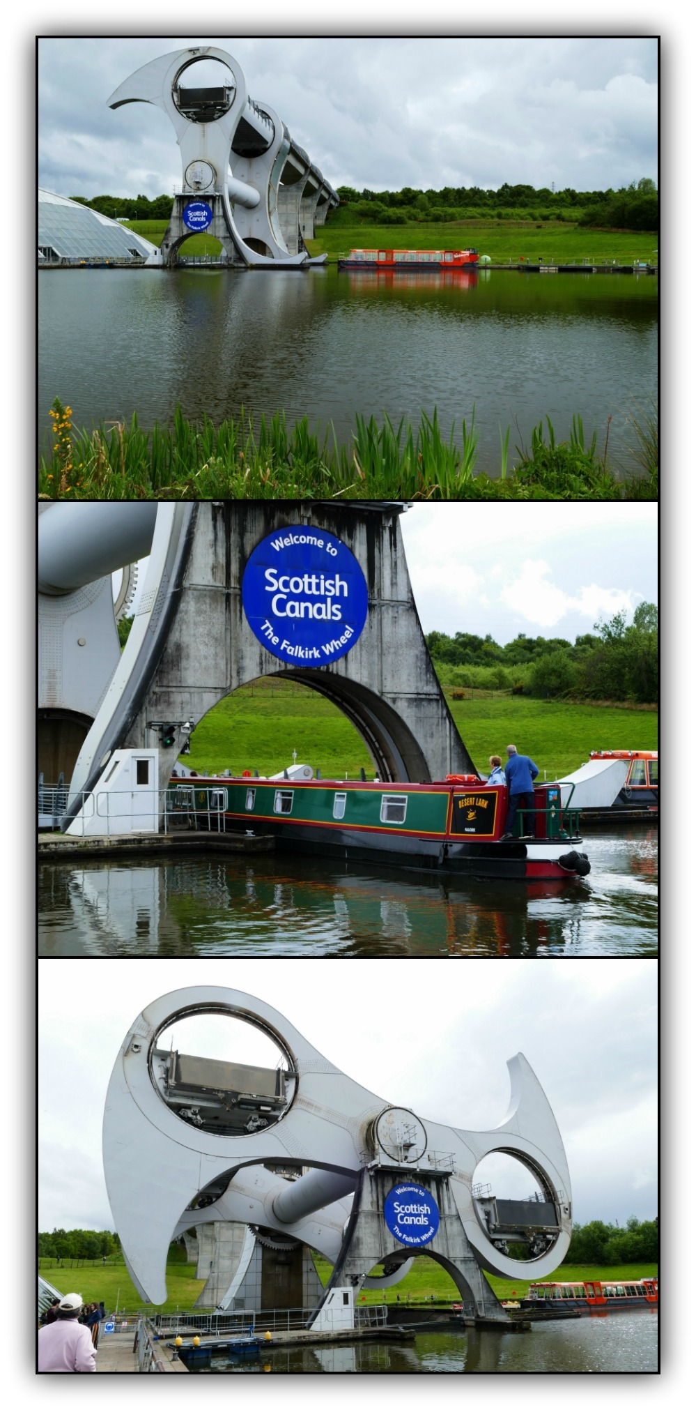 scotland, falkirk wheel, boats, canals, engineerin