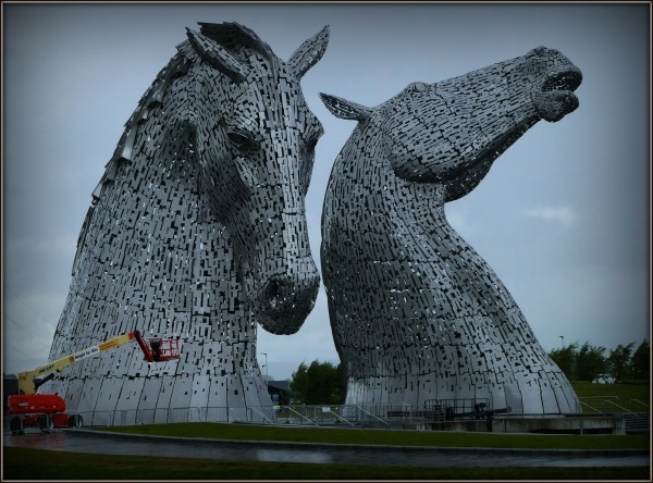 scotland, falkirk, kelpies