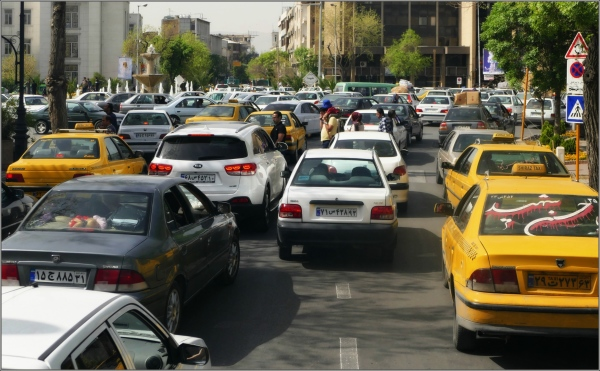 iran, shiraz, street, traffic, cars, congestion